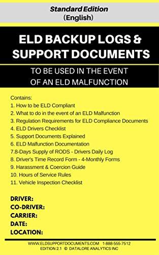 ELD BACKUP LOGS & SUPPORT DOCUMENTS