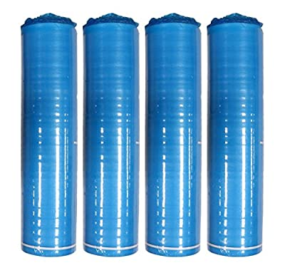 AMERIQUE 4 Rolls Of Flooring Underlayment Padding with Tape and Vapor Barrier, 3-in-1 Heavy Duty Foam, Blue, 3 mm, 800 sq. ft, Bundle Of 4 Rolls