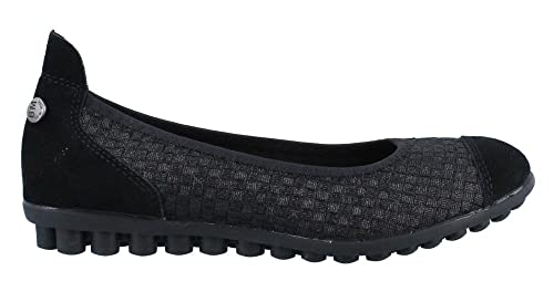 Women's Bernie Mev, Bella Me Slip on Flats BLACK METALLIC 3.6 M