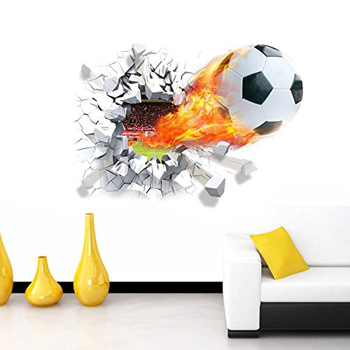 Wandtattoo Wandsticker Spieler Deko Fußball Kinder Aufkleber Kinderzimmer
