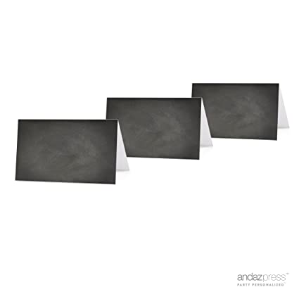 Amazon.com: Andaz Press Table Tent Printable Place Cards on ...