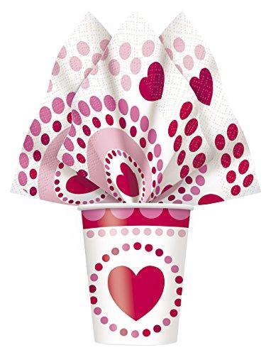 Radiant Hearts Valentine's Day Party Napkins,