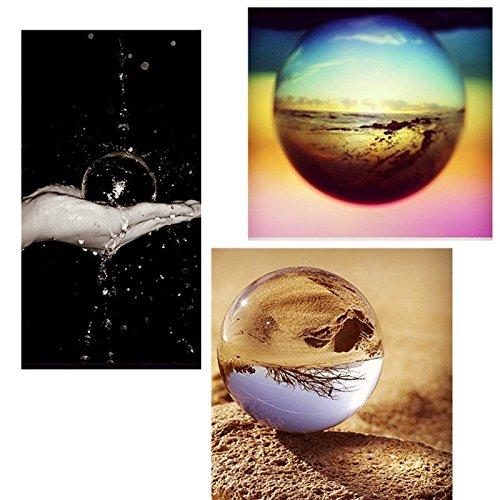 Cuarzo puro Claro mágico cristalino de cristal curativo de la bola Espéculo Slickball Esfera de 60 mm con el soporte