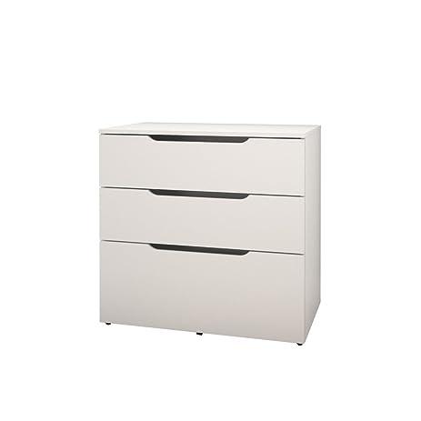 Arobas 600303 3 Drawer Filing Cabinet From Nexera, White