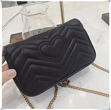 Color : Black, Size : S Elegdy Womens Shoulder Bag Chain Slung Small Bag Female Bag Wild Tide Small Square Bag Shopping Bag Fashion
