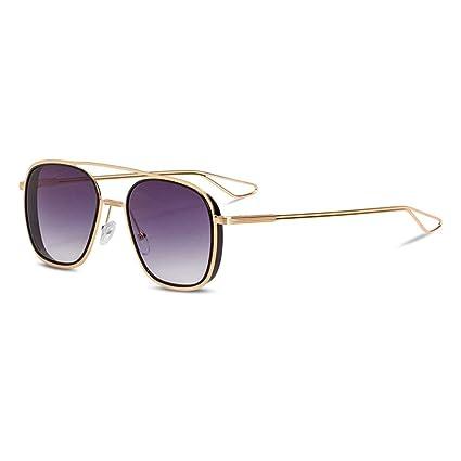 YHgiway Doble viga gradiente Lente Gafas de Sol-Moda Mujeres ...