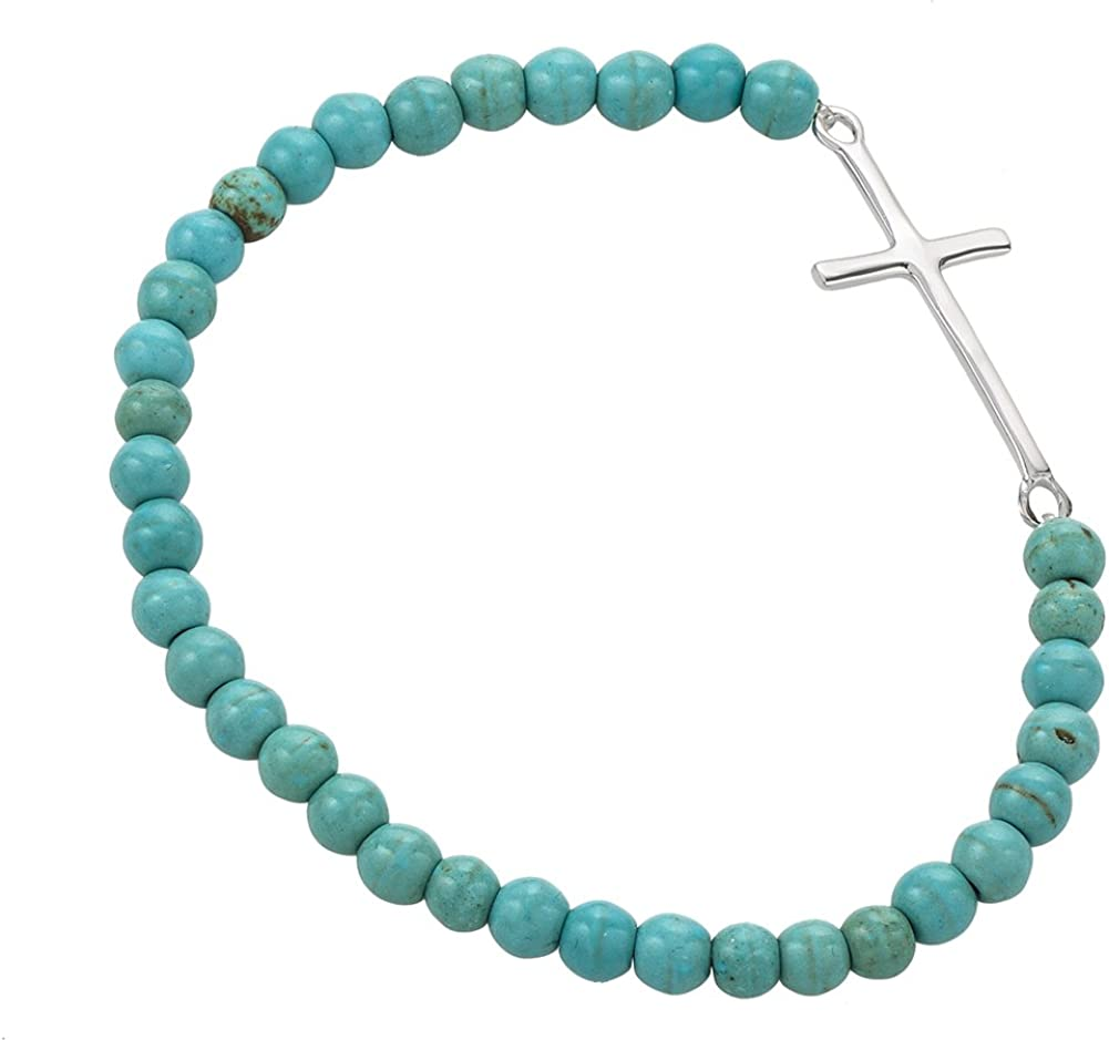 African Turquoise 925 Sterling Silver Bracelet Bracelet Beaded Bracelet Green Beads Ball 8 mm