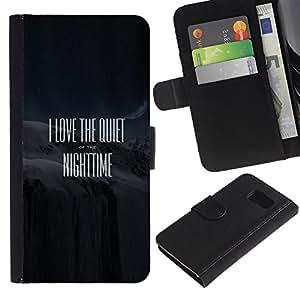 For Samsung Galaxy S6 SM-G920,S-type® Quote Movie Black Text White - Dibujo PU billetera de cuero Funda Case Caso de la piel de la bolsa protectora