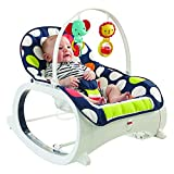 Fisher-Price Baby Infant-to-Toddler Rocker, Navy dots Review