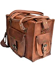 12 Mens Womens Pure Genuine Leather Messenger Duffle Hand Purse Bag Satchel