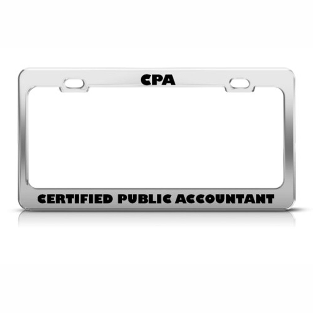 Amazon Cpa Certified Public Accountant Career License Plate