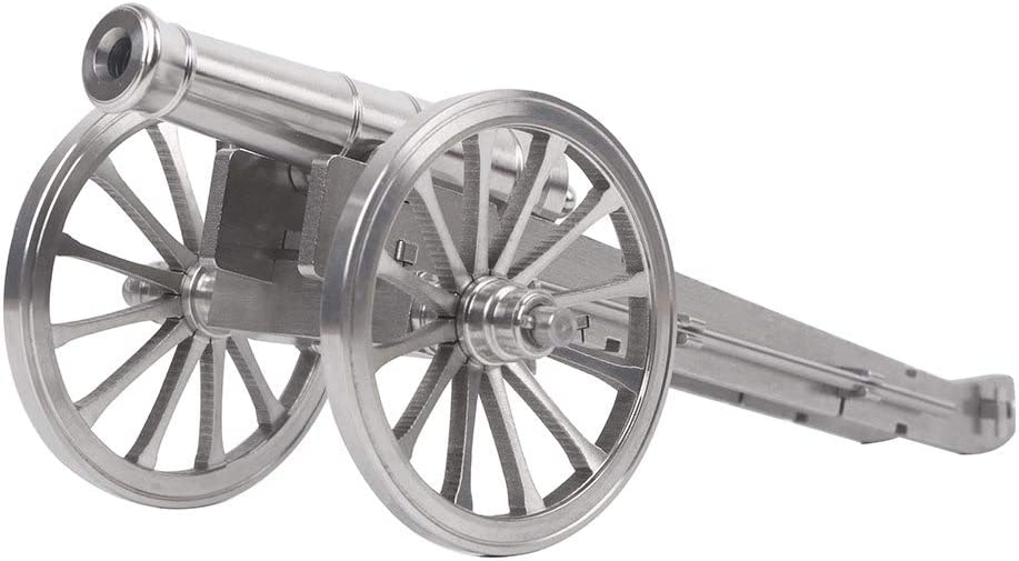 Lymhy Super Napoleon Stainless Steel Pocket Artillery Mini Cannon Military Model