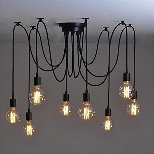 WINSOON Modern 8 Heads Pendant Ceiling Lamp Lighting Without Bulb for kitchen island Living Room Lights (Eight Light Ceiling Lamp)