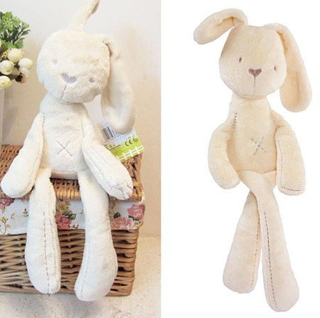 Baby kids lovely White Bunny Rabbit Sleeping Comfort Smooth Obedient Warm Calm Doll Stuff Plush Toy by NEW BORN NEW HOPE