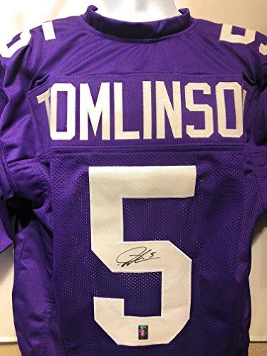 LaDainian Tomlinson TCU Horn Frogs Signed Autograph Purple Custom Jersey HOF Inscribed Tomlinson GTSM Hologram Certified