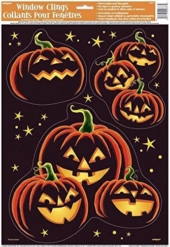 Pumpkin Grin Halloween Window Cling Sheet