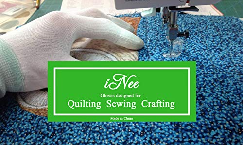 iNee Quilting Gloves for Free Motion Quilting, Small Size
