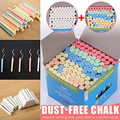 Watonic 100PC Sidewalk Chalk For Kids Toddlers Outdoor Side Walk Outside (Multicolored, 100pc): Office Products
