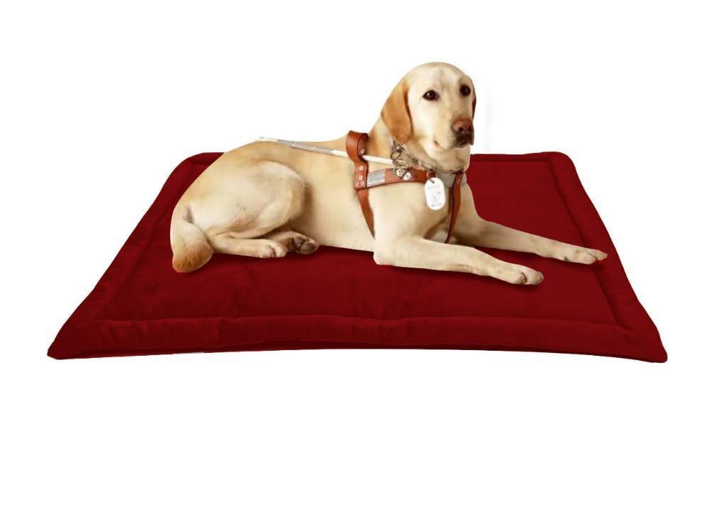 BiuTeFang Pet Bolster Dog Bed Comfort Warm dog mat Non-slip pet mat Pet Bed Folding compression 74x53cm