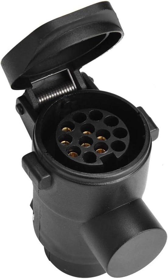 EBTOOLS 7 bis 13 Anh/änger Adapter 7 bis 13 Pin Auto Anh/änger Stecker Buchse Adapter Konverter Caravan Anh/ängerkupplung Abschleppstecker 12V