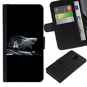 KLONGSHOP // Tirón de la caja Cartera de cuero con ranuras para tarjetas - Tiburón Baloncesto - Samsung Galaxy S5 Mini, SM-G800 //
