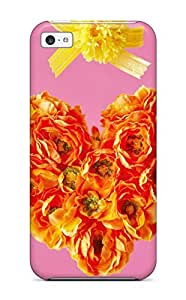 Snap-on Case Designed For Iphone 5c- Fresh Floral Heart