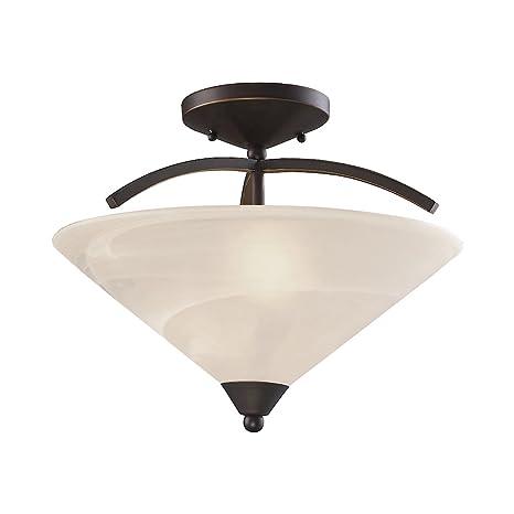 Amazon.com: Iluminación Elk 1743/2 2 luz Semi-Flush plafón ...