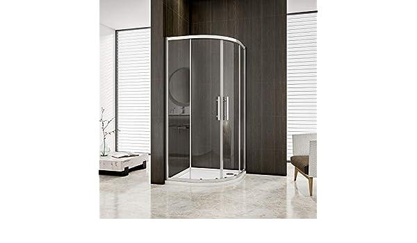 Mamparas de ducha Semicircular Puerta Corredera 6mm 90x90x195cm: Amazon.es: Bricolaje y herramientas