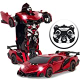 transformers car - Best Choice Products Kids Toy Transformer RC Robot Car Remote Control Car- Red