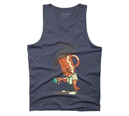 Cafetera cabeza de hombre gráfico camiseta de tirantes - diseño ...