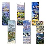 Bible Verses Scriptures Bookmarks Cards - in Christ Alone (60 Pack) - Christian Encouragement Gifts for Men Women Teens Kids - Stocking Stuffers Birthday Baptism Ministry