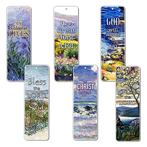 Christian Bookmarks Cards - in Christ Alone (30-Pack) - Gift Ideas for Sunday School, Youth Group, Church Camp, Bible Study - Easter Day, Thanksgiving, Christmas - Prayer Cards - War Room Decor for $<!--$9.99-->