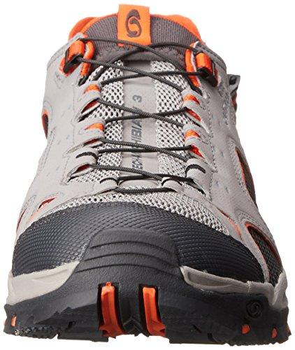 Salomon Techamphibian 3 - Zapatillas de nordic walking Hombre Grau (Pewter/Asphalt/Tomato Red)