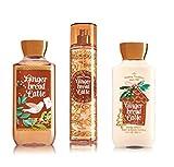 Bath and Body Works Gingerbread Latte Fragrance Mist, Lotion and Shower Gel Set - Winter 2016 Ginger Bread