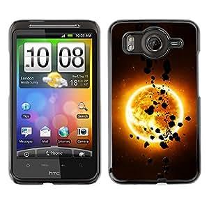 Be-Star Único Patrón Plástico Duro Fundas Cover Cubre Hard Case Cover Para HTC G10 ( The Sun & Asteroids )
