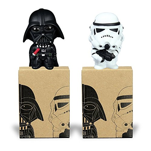 [Star War Darth Vader & STORM TROOPER Action Figure Model Toy Come with Retail Box 10cm 2pcs/lot] (Darth Vader Model)