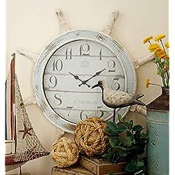 Deco 79 18196 Nautical Wood Anchor Wall Clock