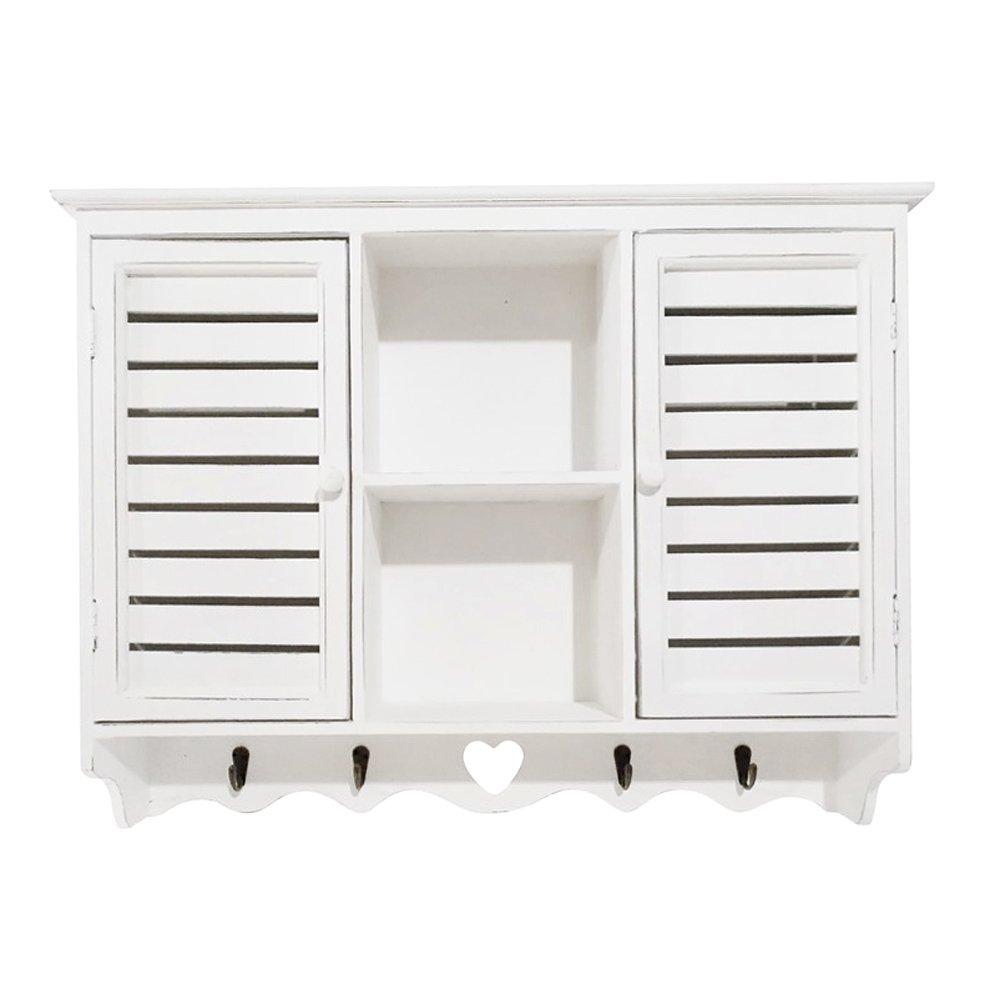 Grafelstein bay Shore - Armadietto da Parete in Stile Shabby Chic, Colore Bianco