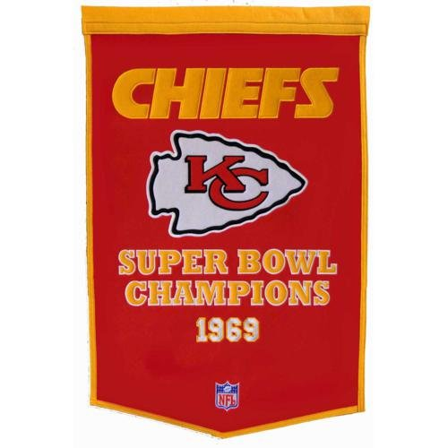 - Kansas City Chiefs Super Bowl Championship Dynasty Banner - with hanging rod