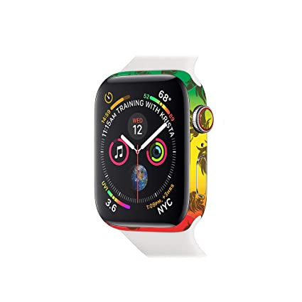 MightySkins Skin for Apple Watch Series 4 40mm - Rasta Lion | Protective, Durable,