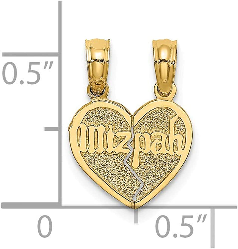 13mm x 11mm Accented with White CZ Stone with 18 Rolo Chain 14k Yellow Gold 15 Years Birthday or Anniversary Small Heart Charm Pendant