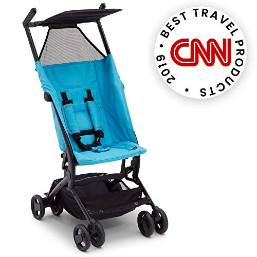 The Clutch Stroller by Delta Children - Lightweight Compact Folding Stroller - Includes Travel Bag - Fits Airplane Overhead Storage - Aqua in USA