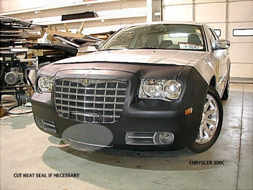 Lebra 2 Piece Front End Cover Black - Car Mask Bra - Fits - Chrysler 300 C & S Without Headlamp Washers (Except Srt8) 2005-2010 Covercraft 551022-01AA
