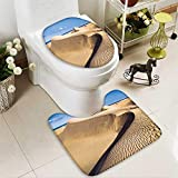 aolankaili 2 Piece Shower Mat set Sandy dunes in famous natural Maspalomas beach on Gran Canaria Spain Custom made Rug Set
