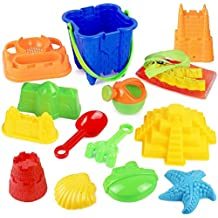 Click N' Play CNP2609 13 Piece Sand Castle Mold Beach Toy Set For Kids