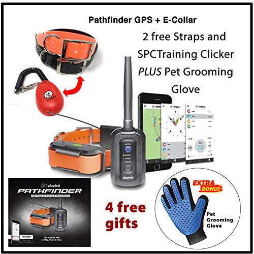 Dogtra Pathfinder GPS + E-Collar with 2 Free Straps, clicker System, and pet groomig Glove