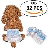Amazon Com Pet Soft Pet Disposable Female Puppy Dog Diaper 12pcs Xxs Pet Supplies