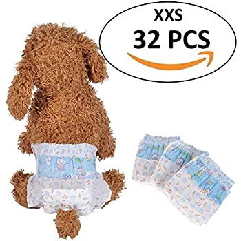 Amazoncom Four Paws Wee Wee Xxs Dog Diaper Garment Pet Diapers