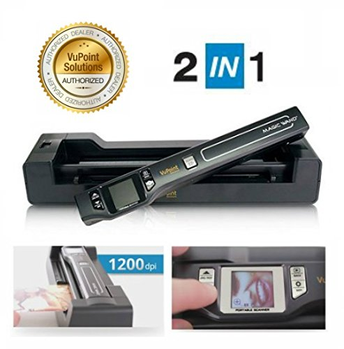 Vupoint Document/Photo 2-in-1 Portable Auto-Feed Dock, 1.5 LCD with 1200 Rechargeable battery