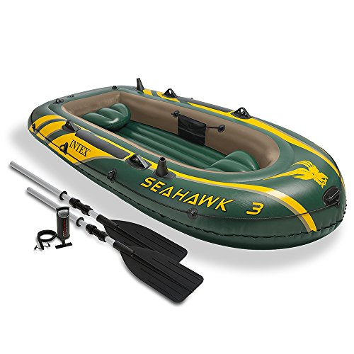 Intex-Seahawk-3-3-Person-Inflatable-Boat-Set-with-Aluminum-Oars-and-High-Output-Air-Pump-Latest-Model